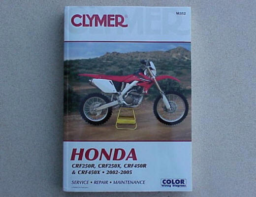2009 honda crf450r service manual